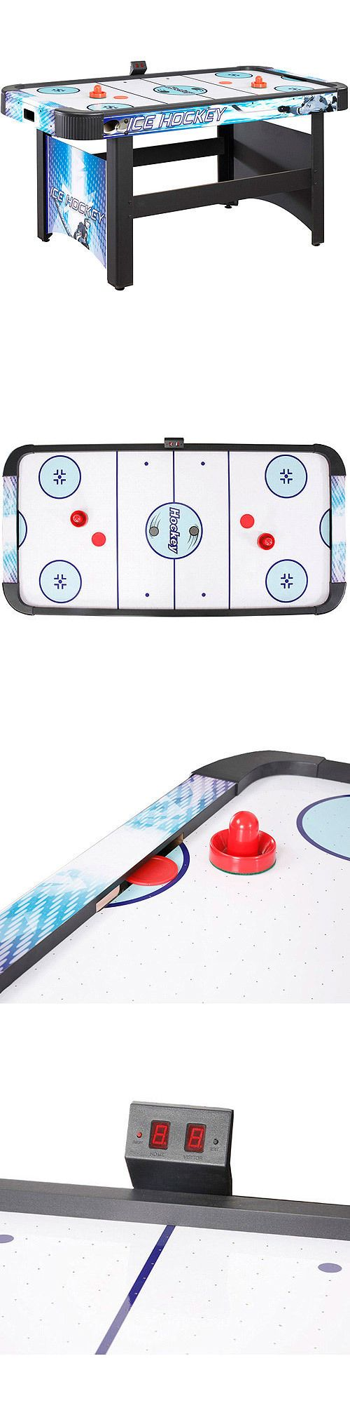 Air Hockey 36275: Deluxe Air Hockey 5 Ft Table With Electronic Scoring Multi Game Auto Puck Return BUY IT NOW ONLY: $377.17