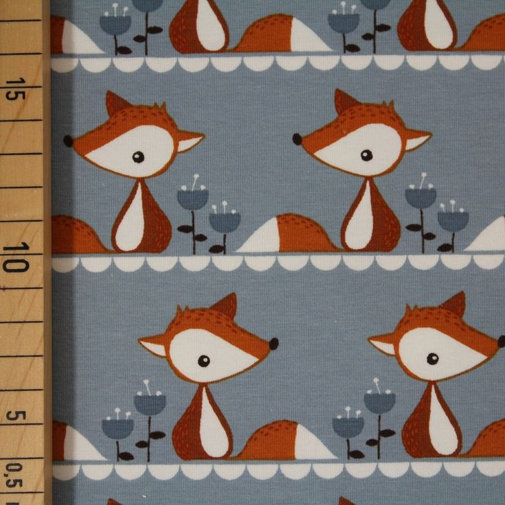 Biojersey - 'Little Fox grau' - 0.5m