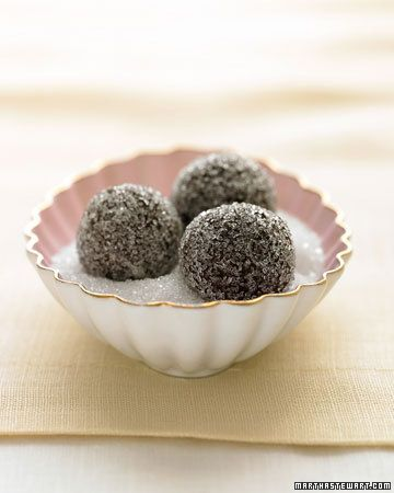 Chocolate-Champagne Truffles in Sparkling Sugar - Martha Stewart Recipes