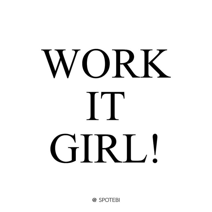 Some days are just tough but dreams don't work unless you do, right?! Work It Girl! …""