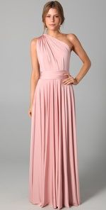 Two Birds. Long Bridesmaid dress idea.