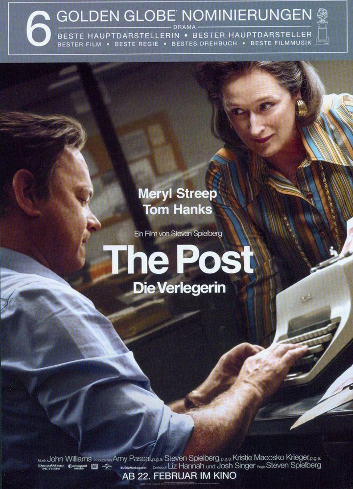 THE POST - DIE VERLEGERIN - TON HANKS - MERYL STREEP - 2018 ORIG. FILMPOSTER A4