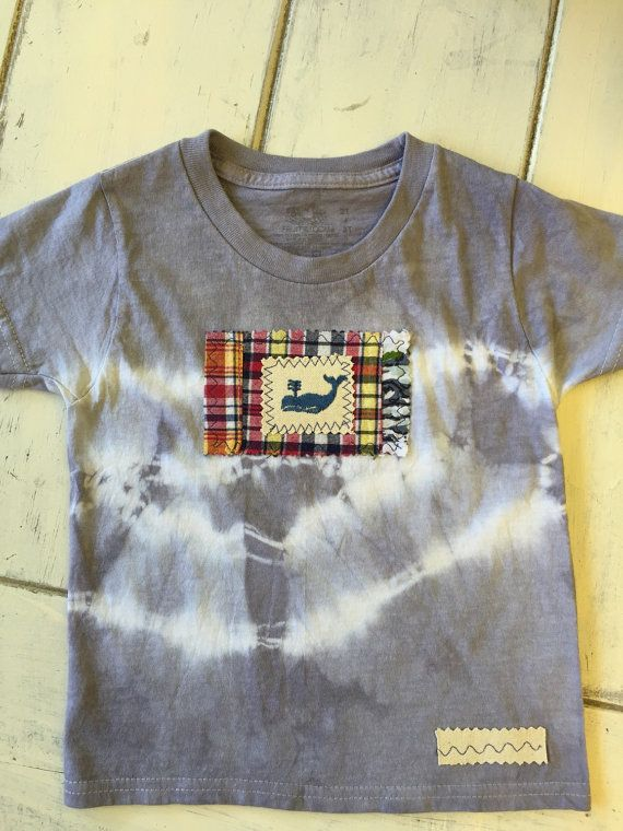 Cotton tie dyed short sleeve t shirt plaid by EcoShantyBoutique