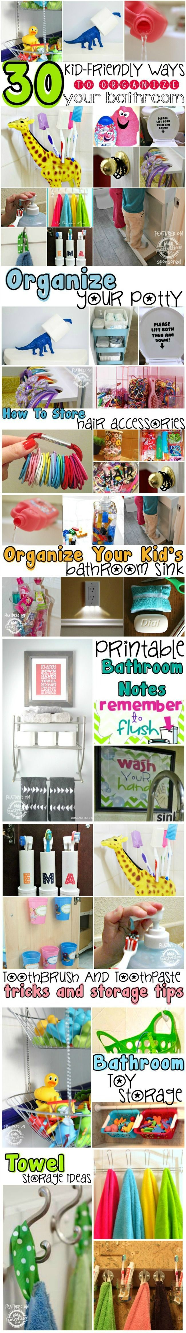 30 Kid-friendly Ways to Organize Your Bathroom Feature