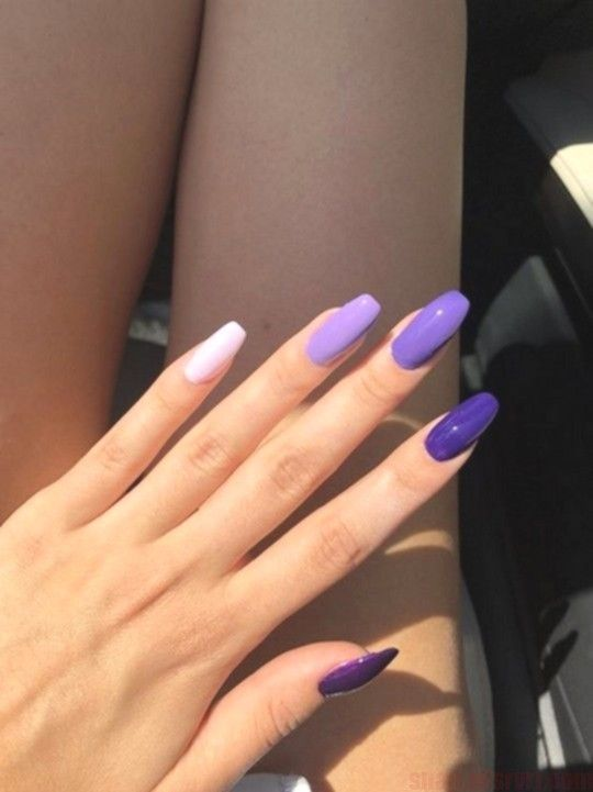 73 Most Eye-Catching Different Color Coffin Nails for Prom and Wedding – Page 8 of 73