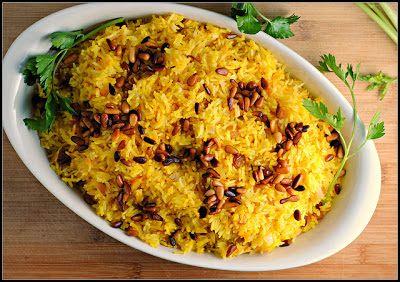 Vegetariancook: Рис с шафраном, изюмом и кедровыми орехами