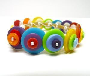 ♥: Crafty Stuff, Color, Bracelets, Buttons, Button Bracelet, Craft Diy Ideas, Craft Ideas, Button Jewelry, Crafty Ideas