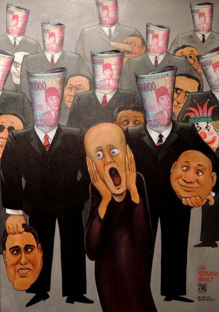 Some prominent illustrators whose caricatures are frequently seen in Kompas newspapers exhibited their latest artworks in Bentara Budaya Jakarta ahead of the Indonesian presidential election.