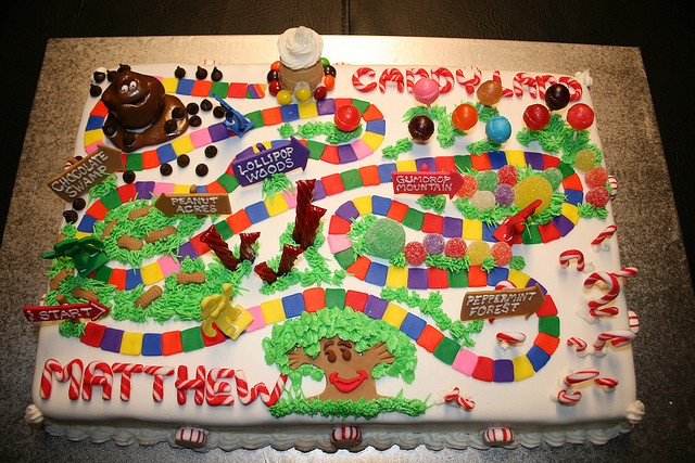 Candyland Cake By Marksl110 Via Flickr Baking Ideas And Hints Pinterest Trees Photos And