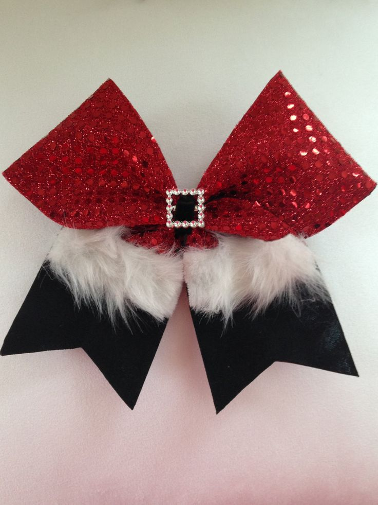 Holiday Christmas Santa Cheer Bow