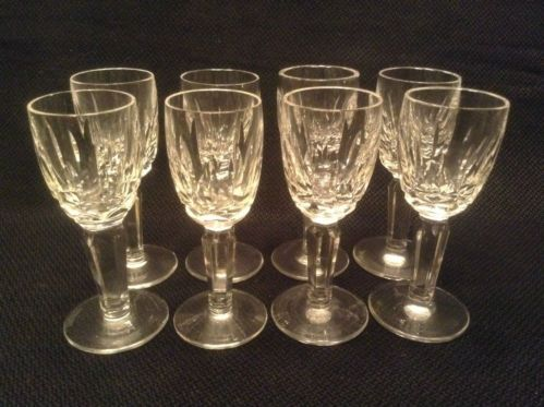 Waterford Kildare EIGHT Crystal Cordial Glasses