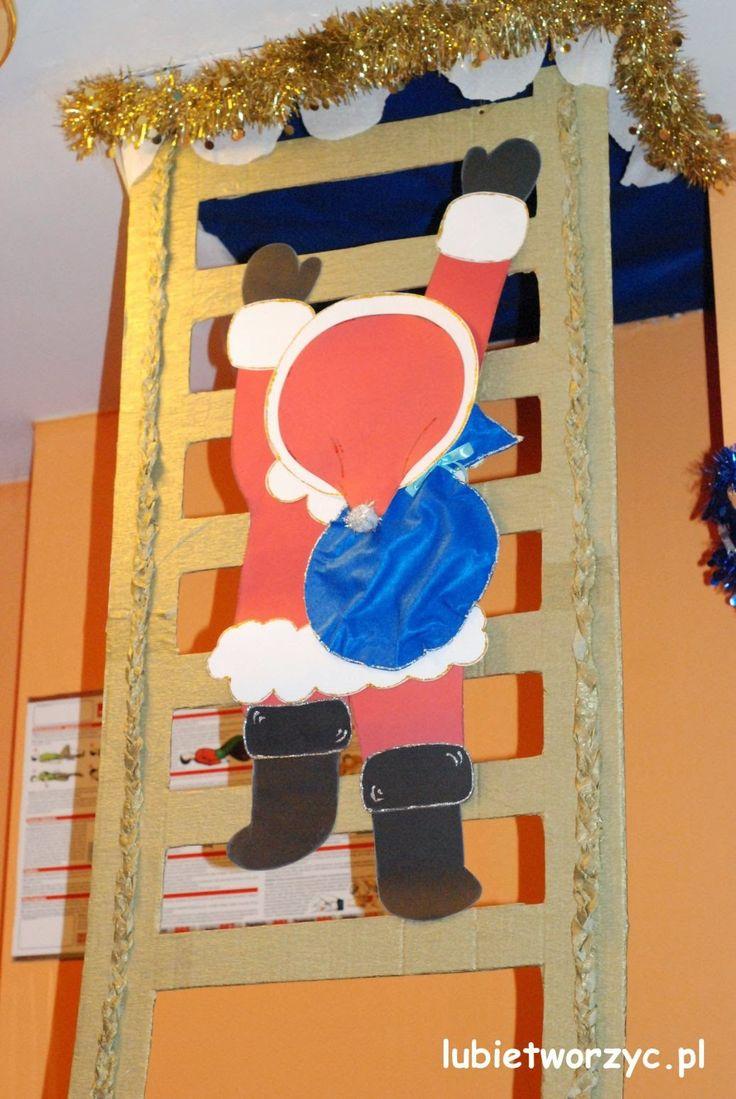 Święty Mikołaj na drabinie :)  #lubietworzyc #DIY #handmade #howto #preschool #kindergarten #instruction #instrukcja #jakzrobic #krokpokroku #przedszkole #dekoracje #decorations #christmas #christmasdecoration #swieta #bozenarodzenie #swietymikolaj #santaclaus #drabina #ladder