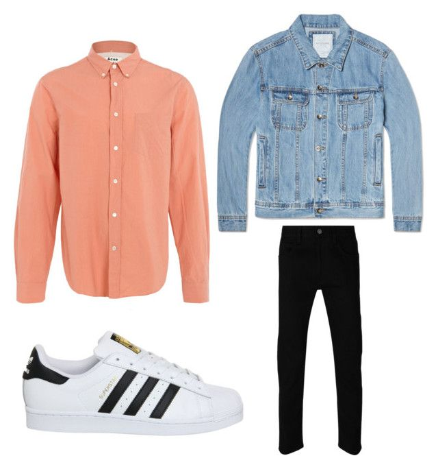 """Untitled #3"" by arvid-gustafsson on Polyvore featuring Acne Studios, Saturdays, adidas, Gucci, mens, men, men's wear, mens wear, male and mens clothing"