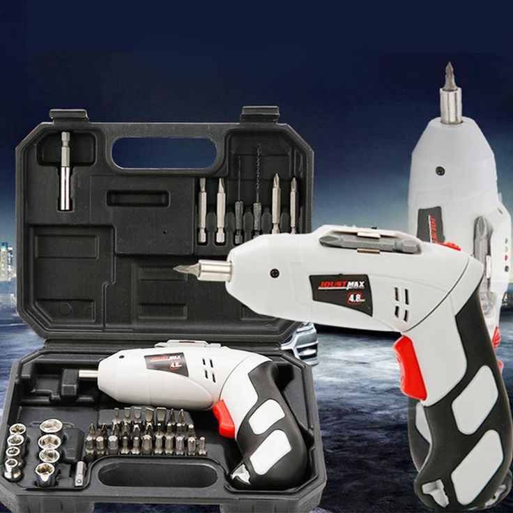 EU 45 Pcs 4.8v Rechargeable Cordless Reversible Electric Screwdriver Drills Kit  #Unbranded