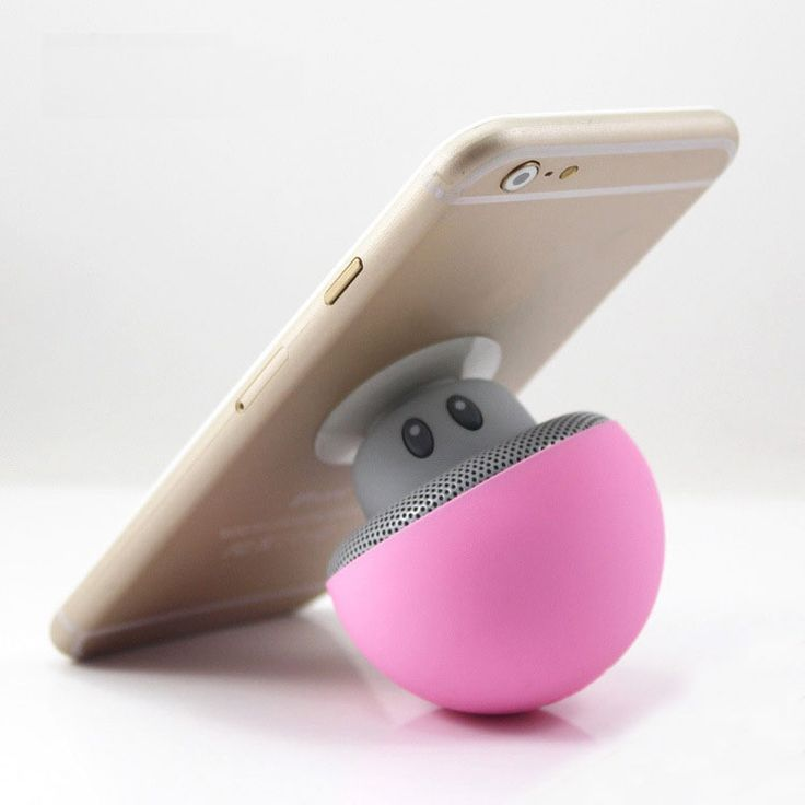 ==> [Free Shipping] Buy Best Mini portable Bluetooth speaker Cartoon mushroom head sucker phone tablet holder outdoor small stereo Speakers Online with LOWEST Price | 32617570562