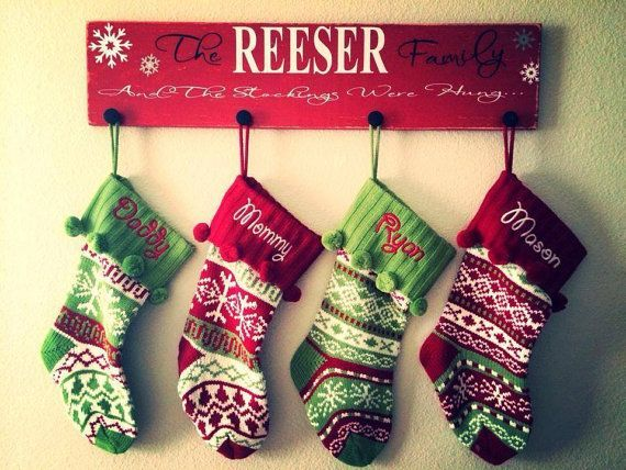 Personalized stocking holder Christmas by VeronicasVintiques