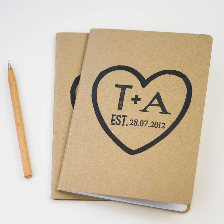 Couple Heart Notebook – Little Pieces