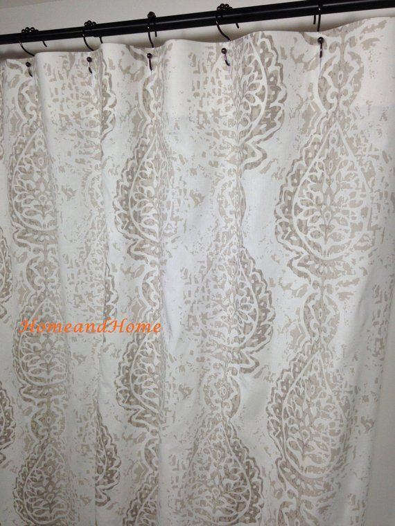 Shower Curtain Fabric Shower Curtain Ecru White 72 X 84 96 108