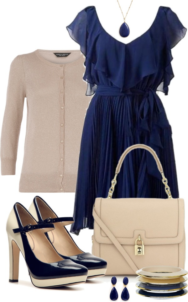 """""""Blue Dress"""" by averbeek on Polyvore"""