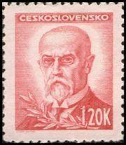 Znaczek: Tomáš Garrigue Masaryk (1850-1937), president (Czechosłowacja) (Portraits) Mi:CS 465,Sn:CS 295,Yt:CS 407,AFA:CS 321,POF:CS 418