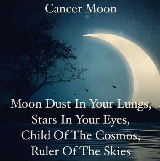 Cancer Moon                                                                                                                                                                                 More