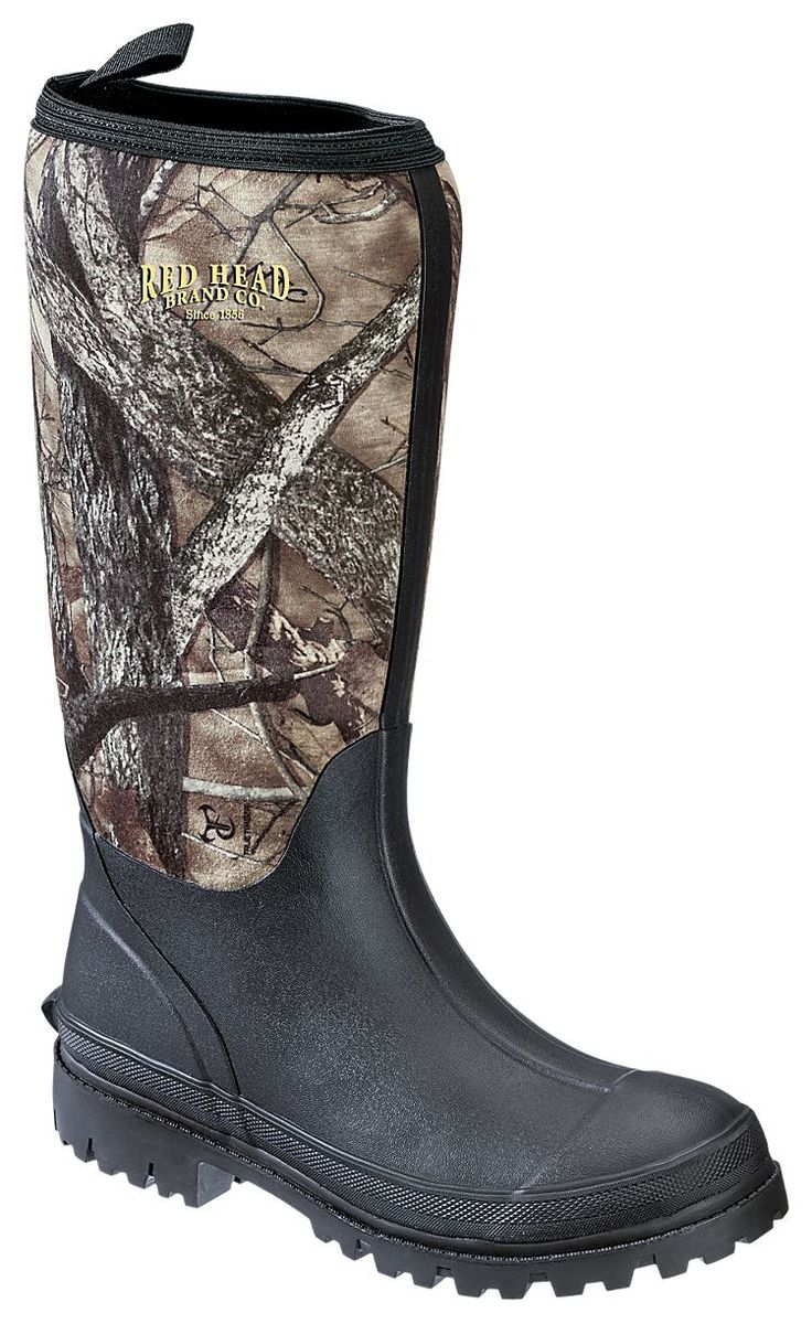 Redhead camo utility waterproof rubber boots for men for Best fishing boots