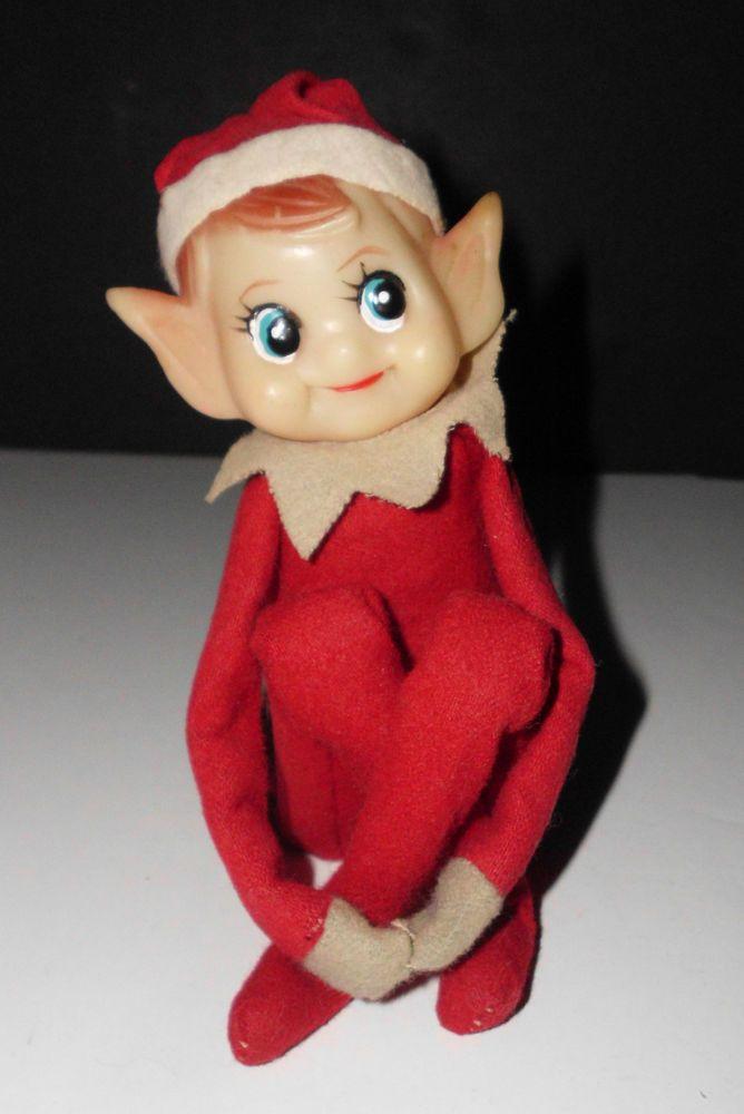 Vintage Elf On The Shelf Knee Hugger Elusive Lucky Elf