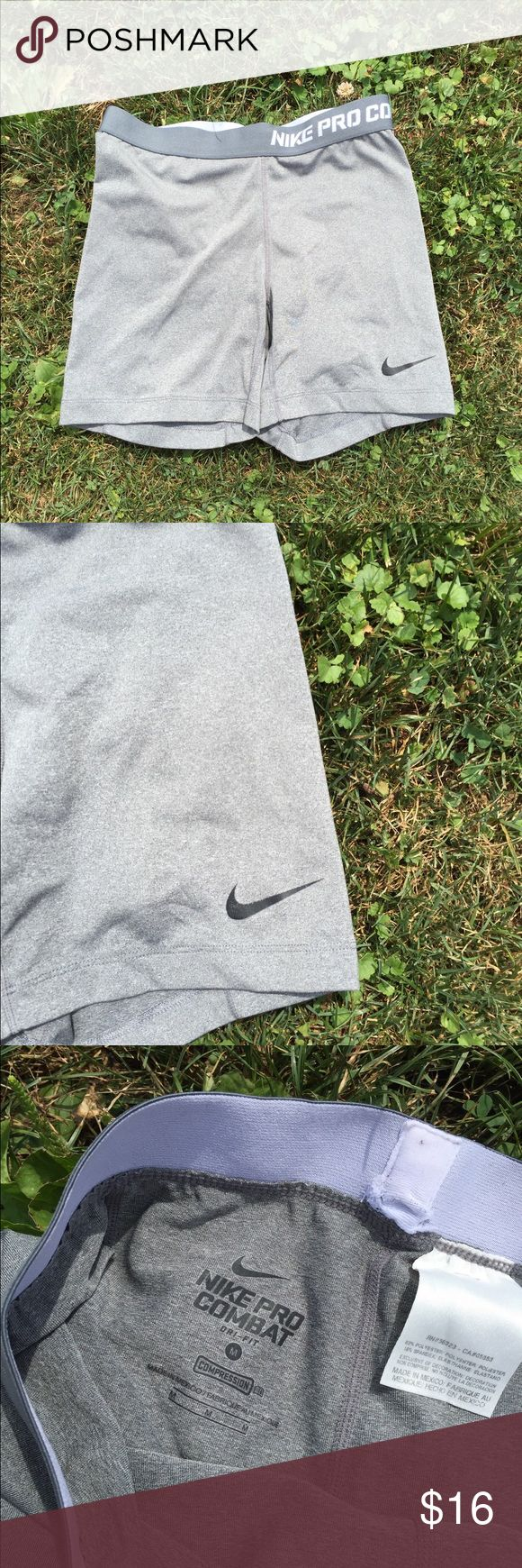 Nike Pro Combat Athletic Shorts Size Medium Size medium. Super gently preowned. Be sure to view the other items in our closet. We offer  women's, Mens and kids items in a variety of sizes. Bundle and save!! We love reasonable offers!! Thank you for viewing our item!! Nike Shorts