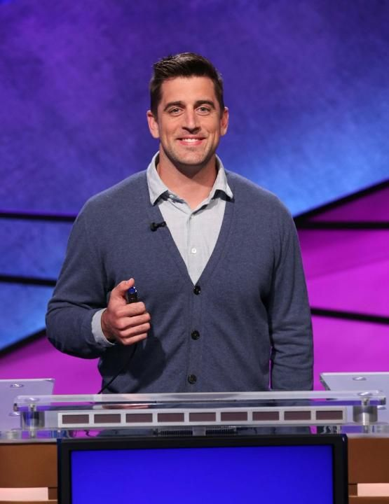 """lambeaufield:  Sneak peek at Aaron Rodgers' Jeopardy! appearance""""Packers QB Aaron Rodgers' appearance on Celebrity Jeopardy! is scheduled to air on Tuesday, May 12, and packers.com has obtained photos that provide a sneak peek into the episode.The episode was taped on March 31 and includes, along with Rodgers, Kevin O'Leary from the hit ABC show Shark Tank, and retired astronaut Mark Kelly.Rodgers has often mentioned in interviews that he's a fan of Jeopardy! and has watched it for a long…"""