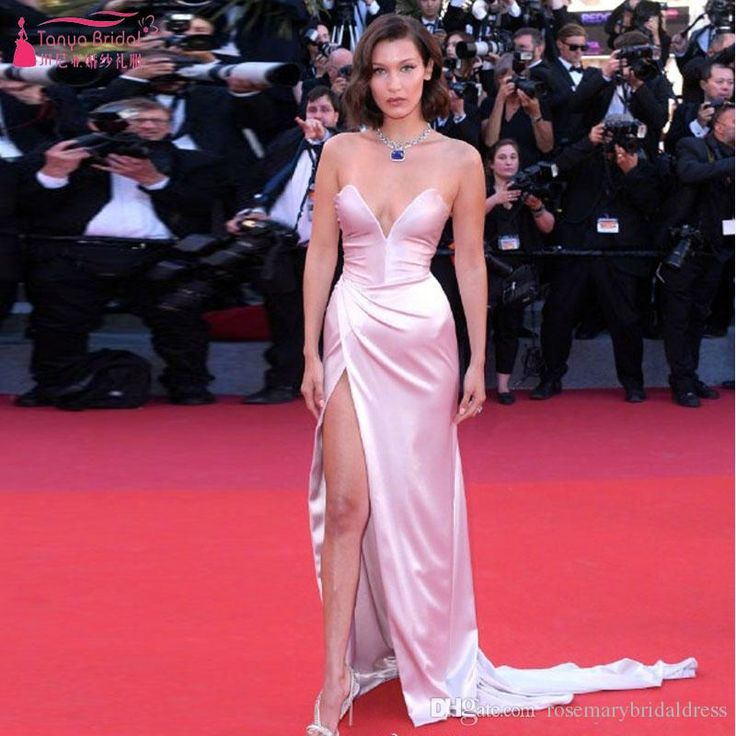 2017 The Cannes Film Festival Celebrate Gowns Deep V-Veck Sweetheart Sexy High Split Special Evening Dresses Bella Red Carpet Dresses Red Carpet Dress Prom Dress Runway Fashion 2017 Online with $163.09/Piece on Rosemarybridaldress's Store | DHgate.com