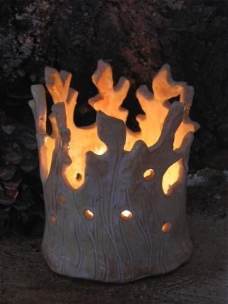 Windlichter - Lichtbaum Windlicht, Aromalampe Keramik - ein Designerstück von Keramik-Stein-Duft bei DaWanda
