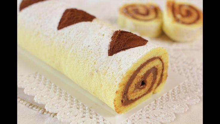 ROTOLO ALLA NUTELLA DI BENEDETTA Ricetta Facile - Nutella Swiss Roll