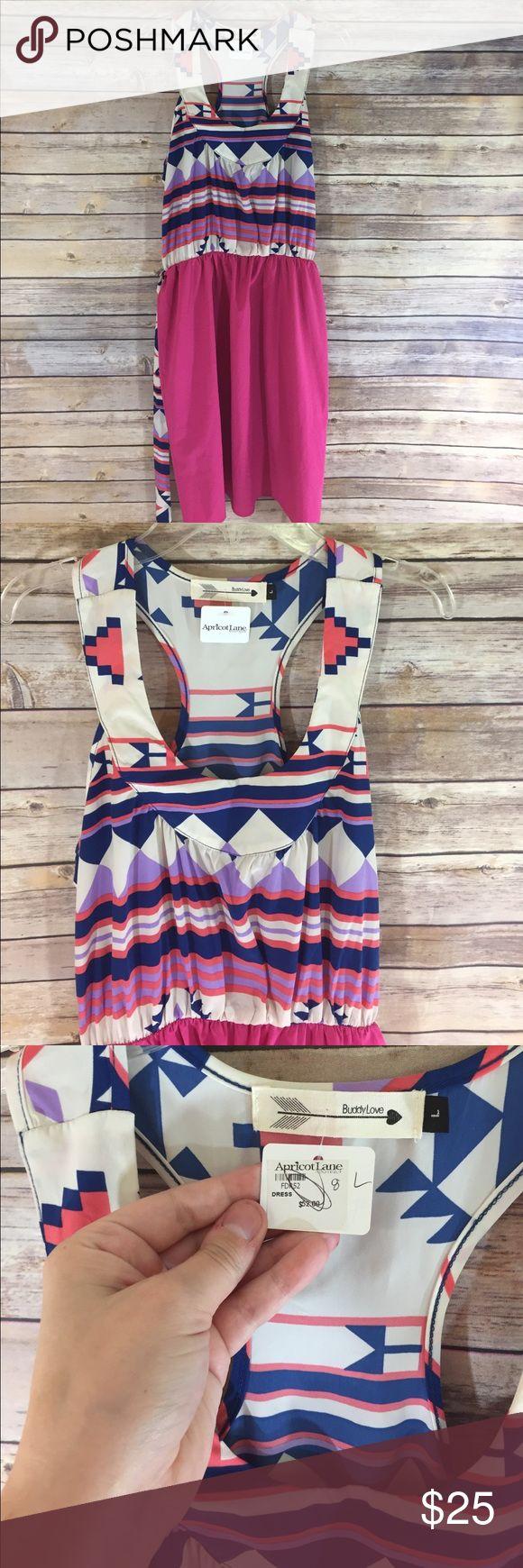 Apricot Lane Silky Pink and Tribal Print Dress Apricot Lane Silky Pink and Tribal Print Dress. Size large. NWT apricot lane Dresses