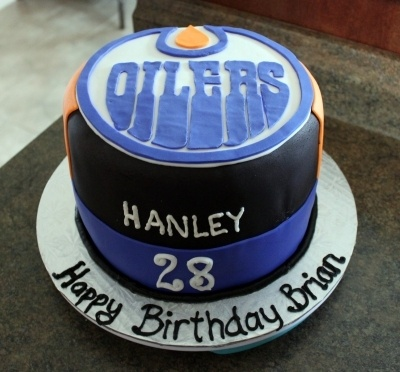 Edmonton Oilers Cake By Goodie2Shoes on CakeCentral.com www.facebook.com/goodie2shoesnl
