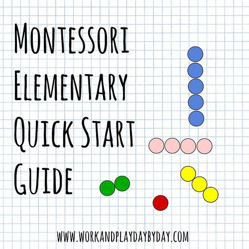 Montessori quick start guide for homeschooling families with children in grades one through six.