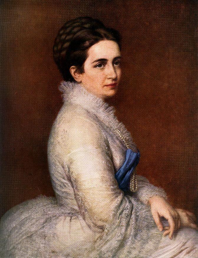 Portrait of Mrs. István Bittó  by Miklós Barabás