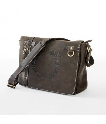 The Bethesda Store - Ouroboros Leather Messenger Bag. Someone please give me this!