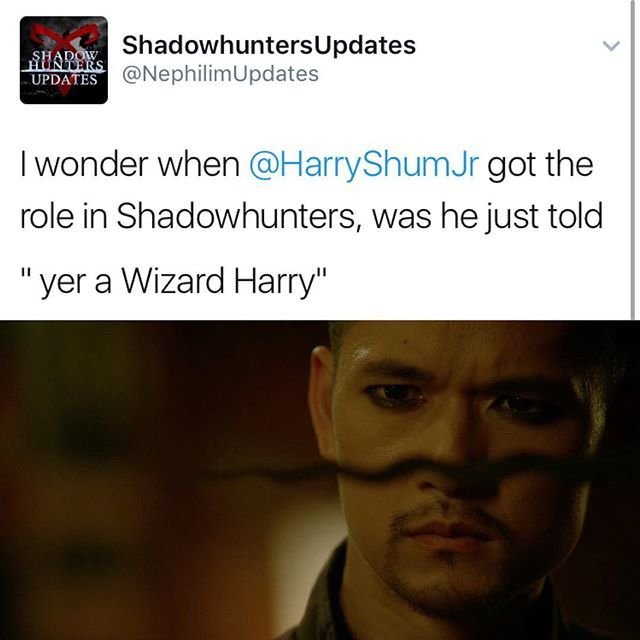 Just think about it! (I know it's warlock but...) #shadowhunters #MagnusBane #HarryShumJr