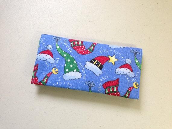 Christmas Shopper Checkbook Cover by ttimecreations on Etsy, $5.00