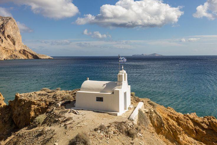 Agioi Anargyroi beach and chapel