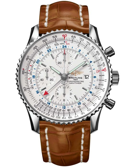 BREITLING NAVITIMER WORLD SILVER MEN.... LOVE