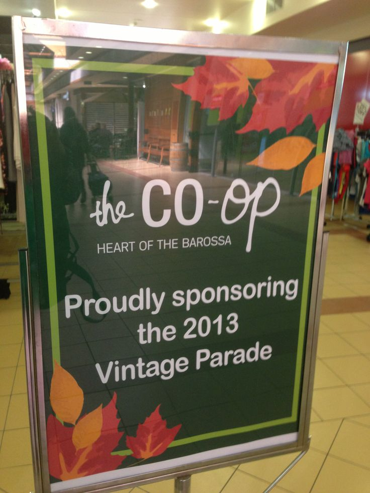 In 2013 The Co-Op, Heart of the Barossa proudly sponsored the Barossa Vintage Festival Parade.