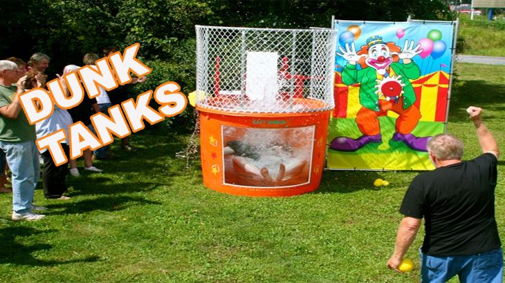 Partytime Inflatables in Ottawa, Ontario. Dunk Tanks are great for fundraisers, street parties any type of event will benefit from this timeless classic. Price to rent this item is $300. Shipping and Setup not included.  Call 613-695-JUMP(5867) to check availabilty.