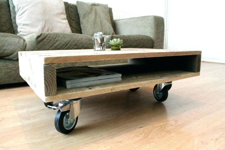 Castors With Brake Goods Item For Your Furnitures Wooden Pallet Coffee Table Coffee Table With Wheels Coffee Table