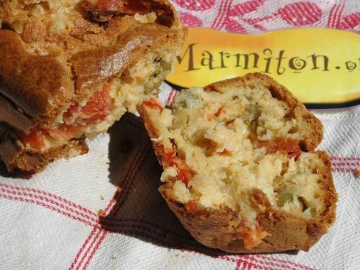 Recette de Cake tomates olives mozzarella