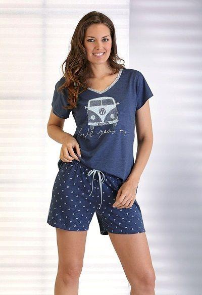 Pijama verano manga corta Massana furgoneta. Un conjunto muy favorecedor