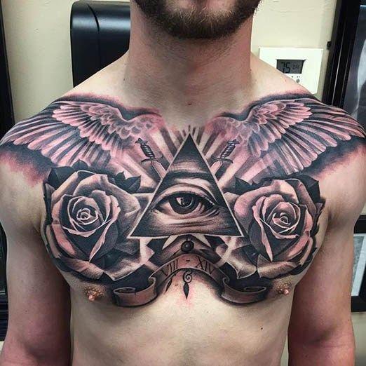 25 Best Chest Tattoos For Men: 576 Best Chest Tattoos Images On Pinterest