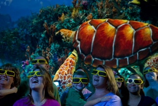 First-of-its-kind 360 3D dome projection.  TurtleTrek @ SeaWorld Resort Orlando