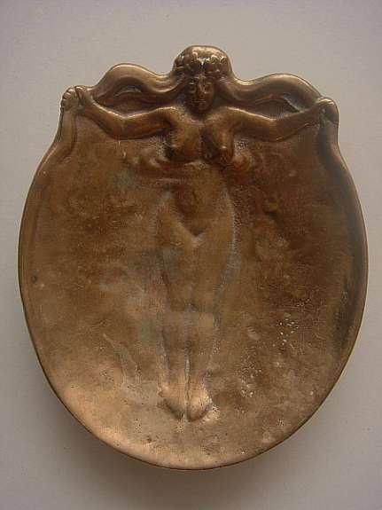 woman bathing: bronze ashtray, norwegian