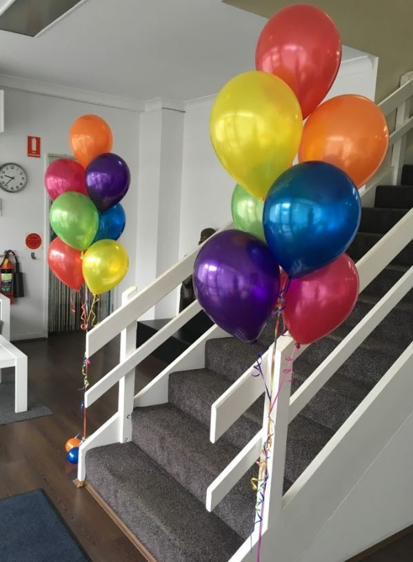 Balloon Arrangements Of 7 Balloons 13th Birthday Parties Party Games 50th